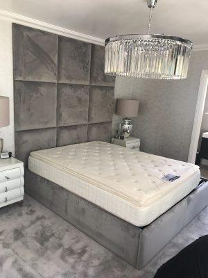 Kilburn Bed and Panel Headboard